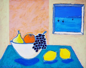 Fruit Bowl with a Sea View